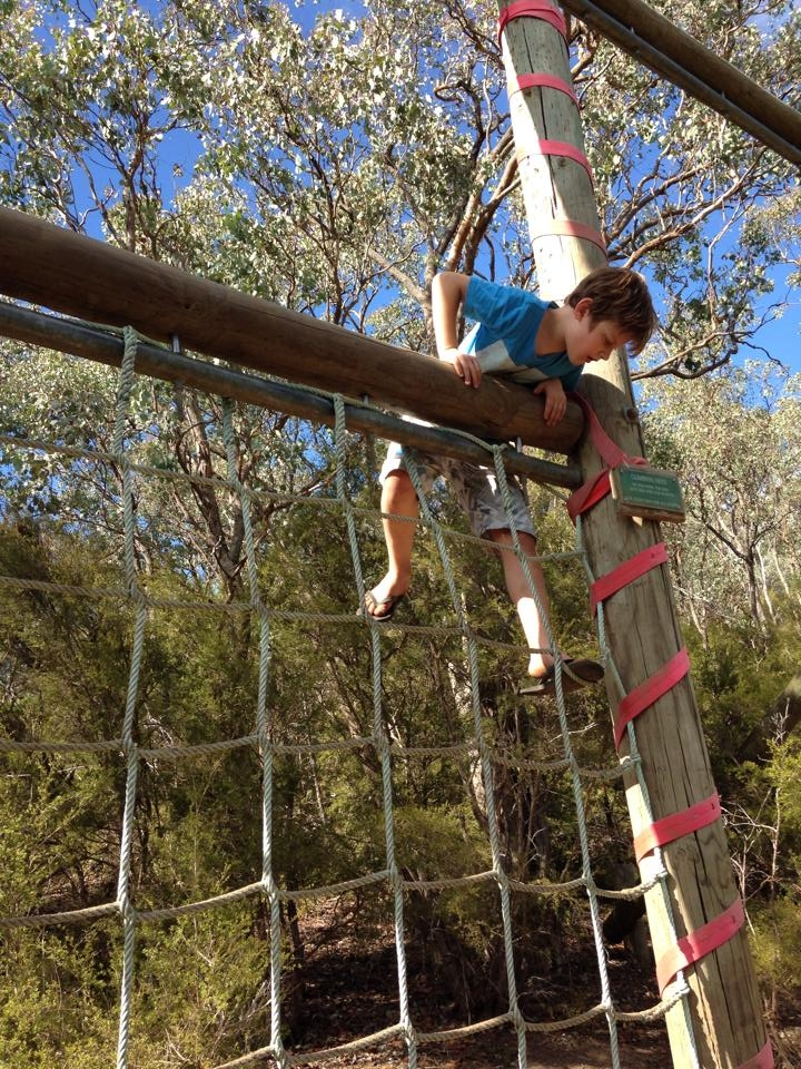 Lachlan on obstacle